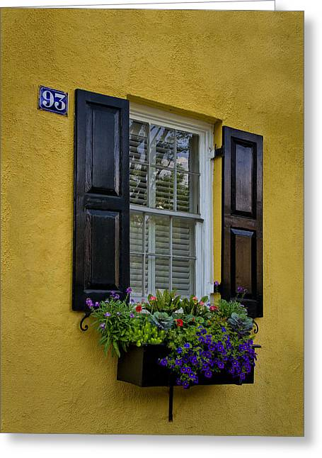 Shutters And Window Boxes Greeting Card by Sandra Anderson