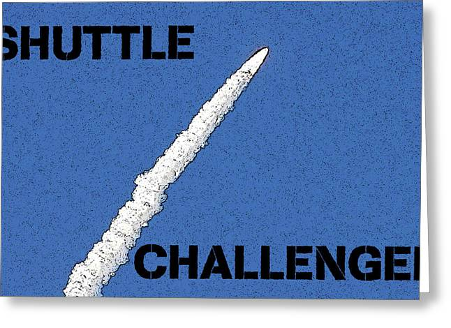 Shuttle Challenger  Greeting Card by David Lee Thompson