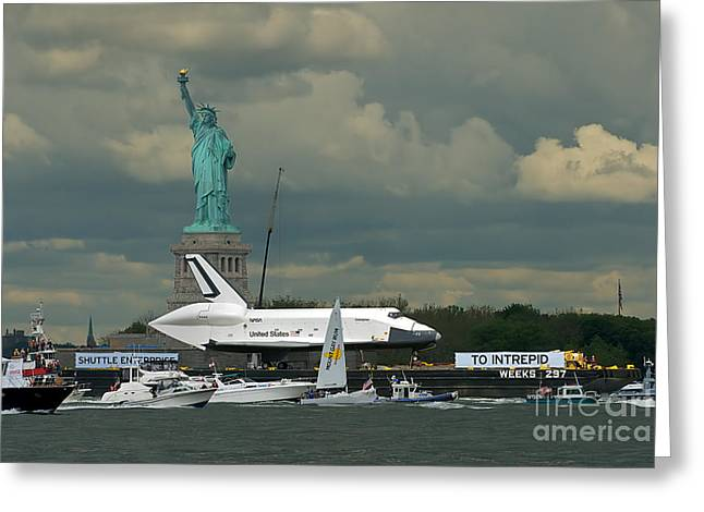 Shuttle Enterprise 3 Greeting Card by Tom Callan