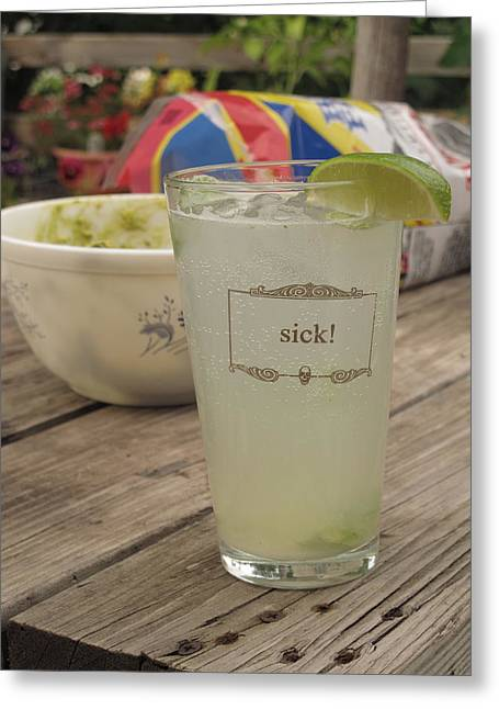 Sick The Summer Greeting Card by Colleen Rugg