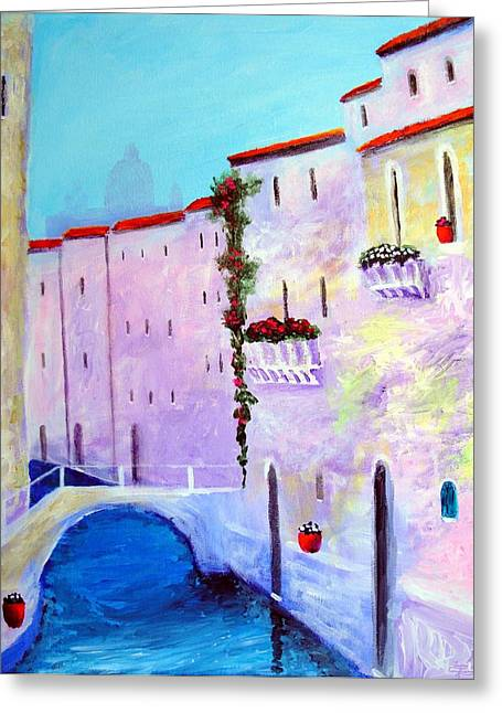 Side Canal Of Venice Greeting Card