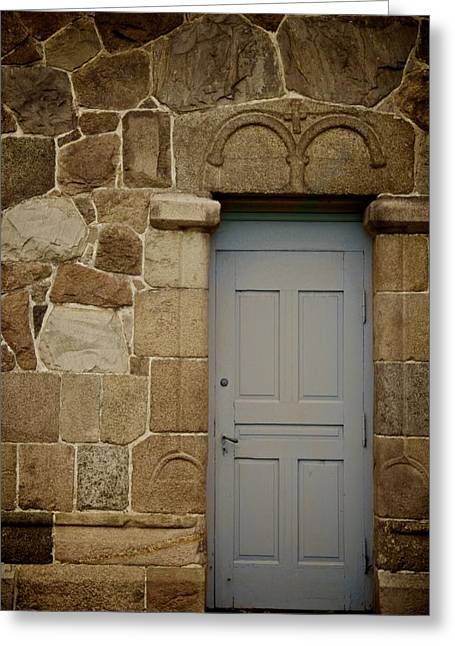 Side Door Greeting Card by Odd Jeppesen