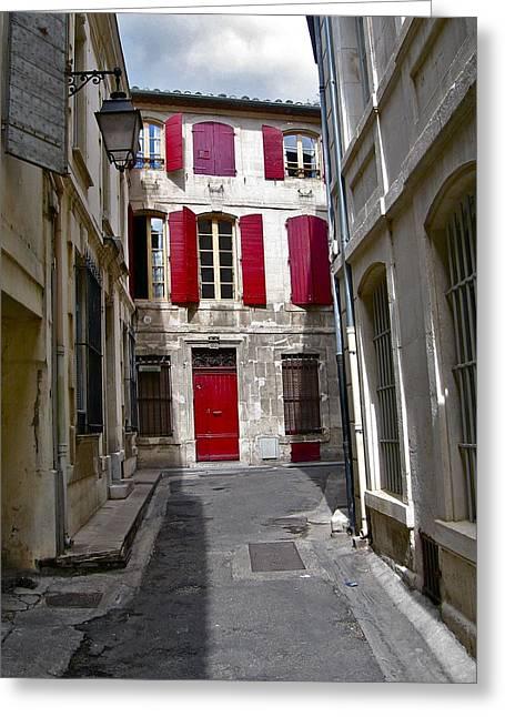 Sidestreet In Arles Greeting Card by David Ritsema
