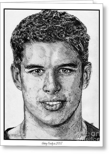 Sidney Crosby In 2007 Greeting Card by J McCombie