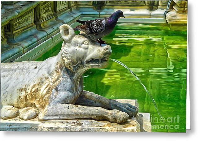 Siena Italy - Bird Dog Greeting Card