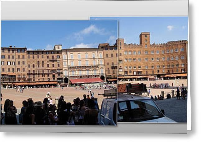 Siena Italy - Piazza Del Campo Greeting Card by Gregory Dyer