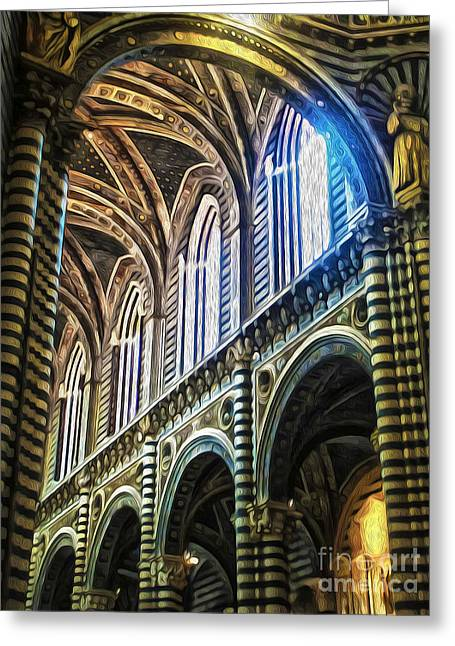 Siena Italy - Siena Catheral Greeting Card by Gregory Dyer