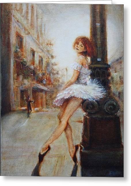 Sienna Greeting Card by Caroline Anne Du Toit