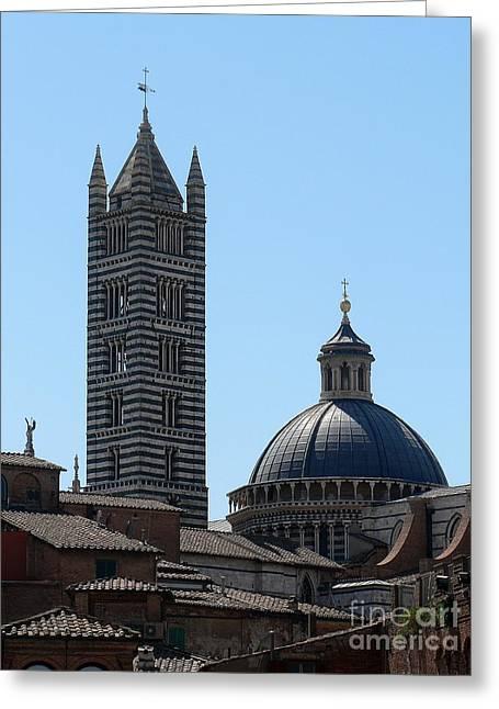 Sienna's Duomo Greeting Card by Elizabeth Fontaine-Barr
