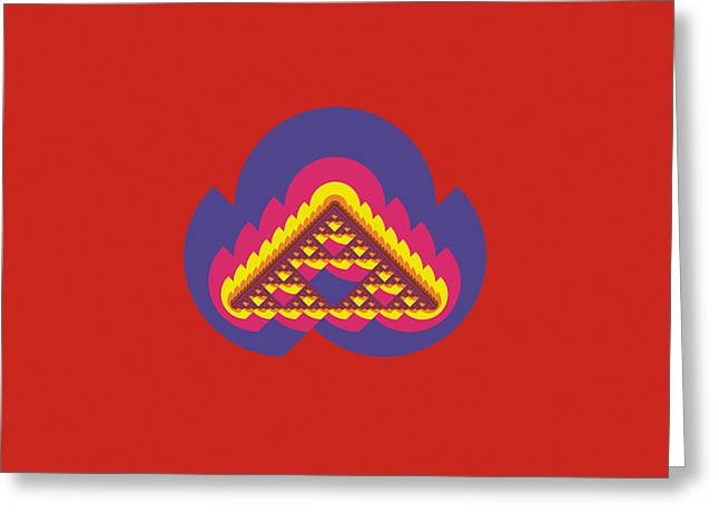 Sierpinski Greeting Card by David Reed