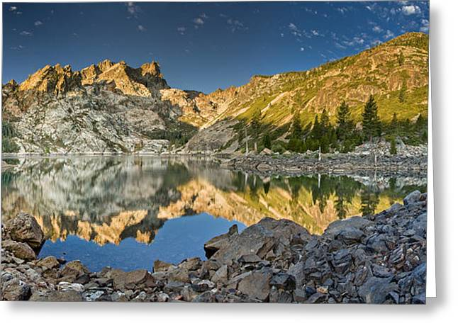 Sierra Buttes Panorama 1 Greeting Card by Greg Nyquist