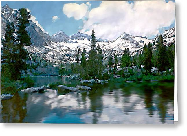 Sierra Greeting Card by Kurt Van Wagner