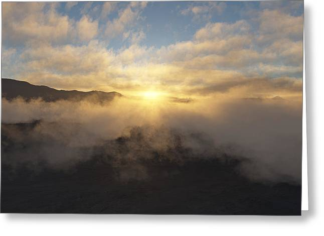 Sierra Sunrise Greeting Card by Mark Greenberg