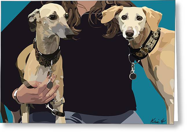 Sighthounds Greeting Card