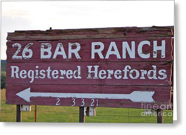Sign Of John Waynes Old Ranch Greeting Card