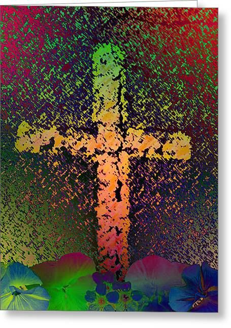 Greeting Card featuring the photograph Sign Of The Cross by David Pantuso