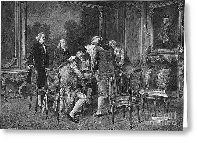 Signing Treaty Of Peace, 1782 Greeting Card