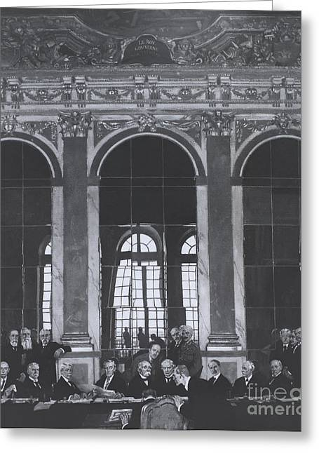 Signing Treaty Of Versailles, 1919 Greeting Card
