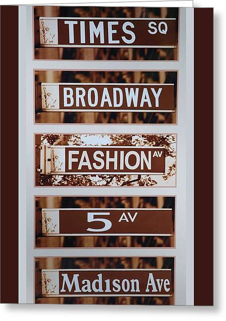 Signs Of New York Greeting Card by Rob Hans