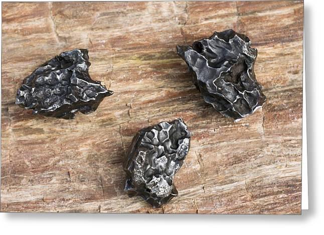 Sikhote-alin Meteorite Fragments Greeting Card by Dirk Wiersma