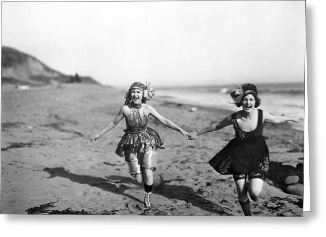 Silent Film Still: Bathers Greeting Card by Granger