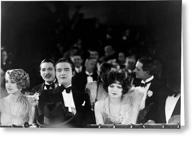 Silent Film Still: Theatre Greeting Card by Granger