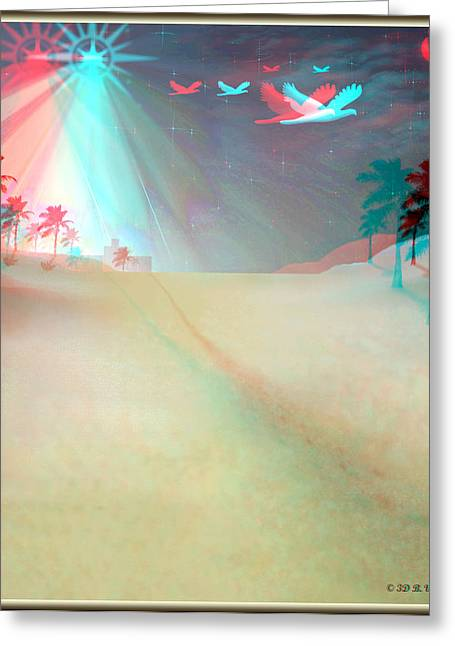 Silent Night - Red And Cyan 3d Glasses Required Greeting Card by Brian Wallace