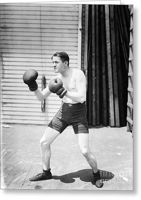 Silent Still: Boxer Greeting Card by Granger