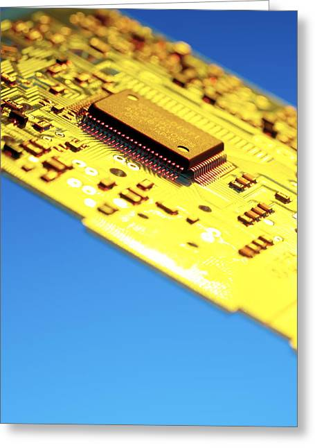 Silicon Chip Greeting Card by Tek Image