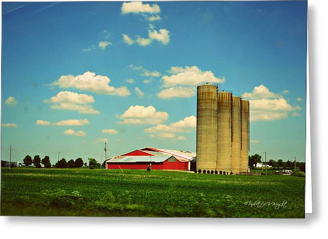 Silos Greeting Card by Paulette B Wright