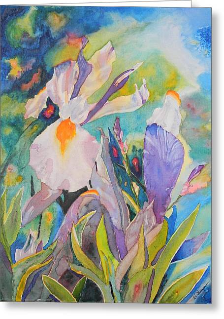 Silver Beauty Iris  Greeting Card by Warren Thompson