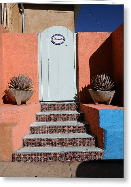 Silver City Doorway Greeting Card by FeVa  Fotos