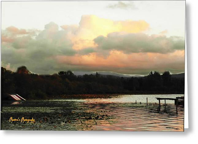 Greeting Card featuring the photograph Silver Lake Sunset by Sadie Reneau