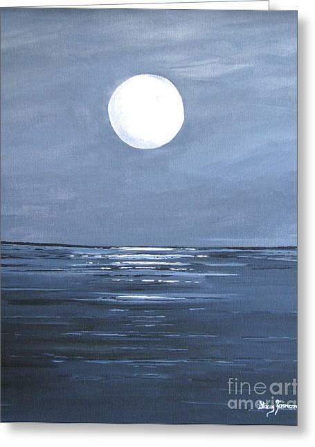 Silver Moon Greeting Card
