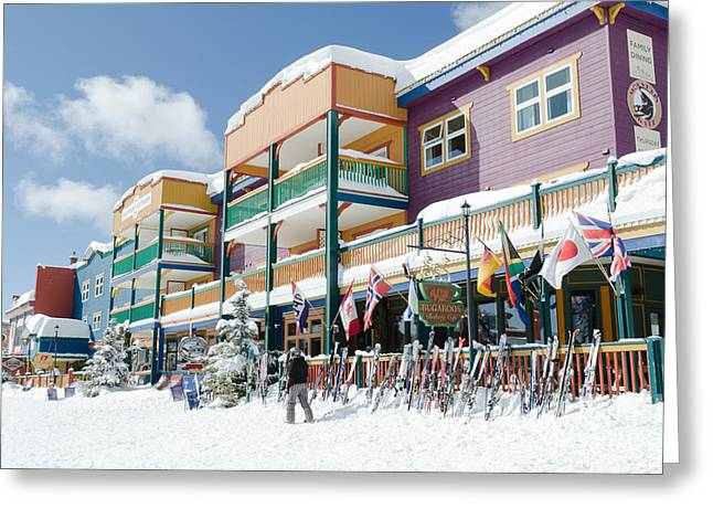 Silverstar Colour Silver Star Village Resort Buildings Colors Greeting Card by Andy Smy