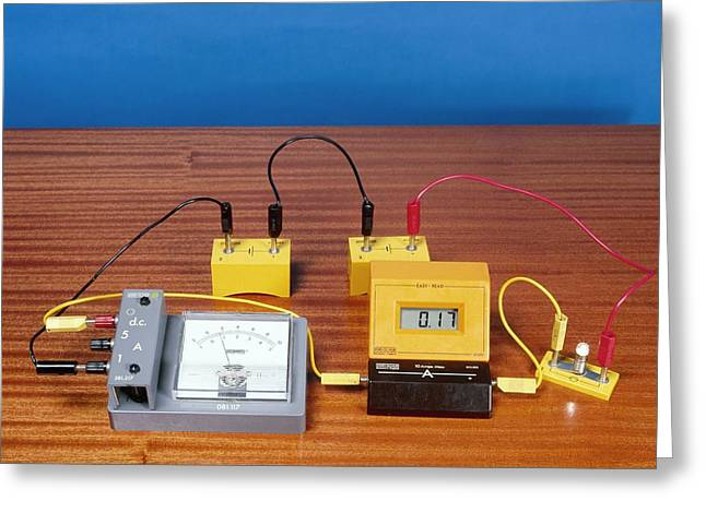 Simple Electrical Circuit Greeting Card