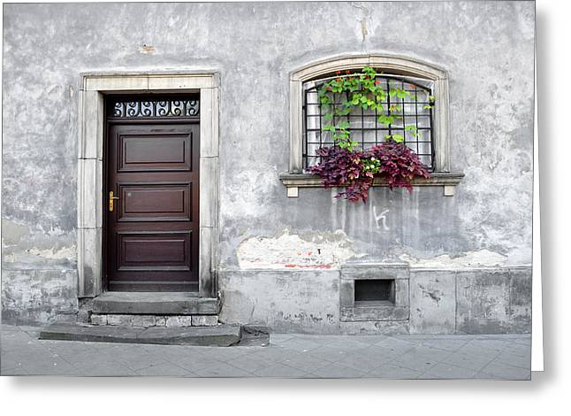Simple Old House Facade. Greeting Card by Fernando Barozza