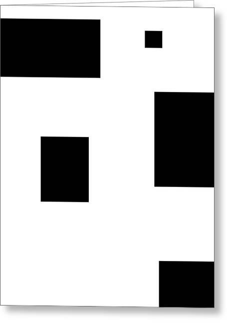 Simply Black Blocks Sbb Greeting Card by Steve K