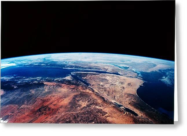 Sinai Peninsula Greeting Card by Nasa