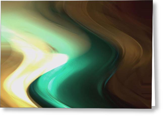 Greeting Card featuring the mixed media Sine Of Ninety by Terence Morrissey