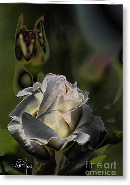 Sinful Rose Greeting Card by Leo Symon