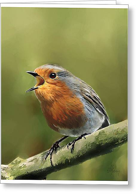 Sing Red Robin Sing Greeting Card by Michael Greenaway