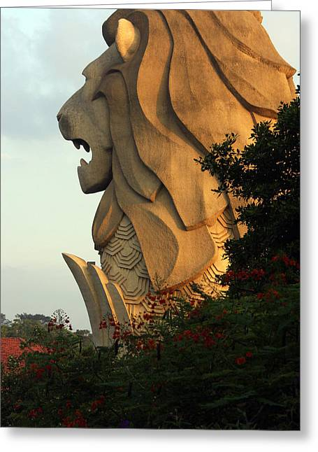 Singapore Merlion Greeting Card