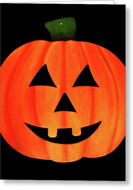 Single Smiling Jack-o'-lantern Greeting Card