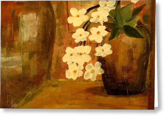 Single Vase In Bloom Greeting Card