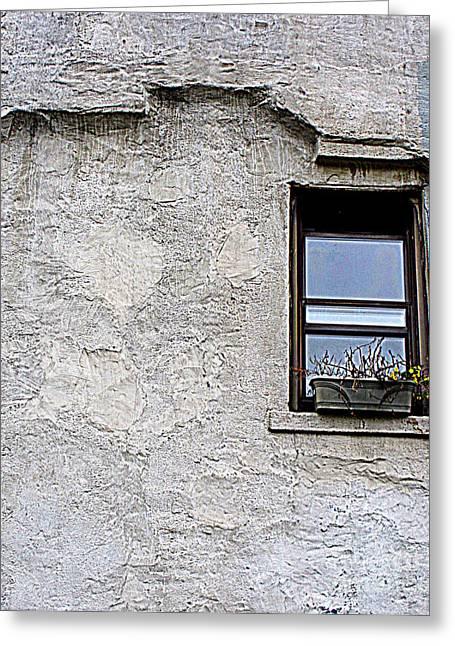 Single Window Greeting Card by Maria Scarfone