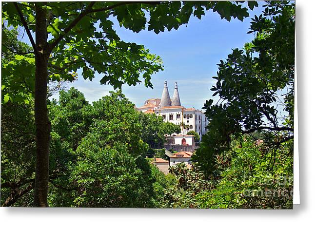 Sintra National Palace Greeting Card by Carlos Caetano