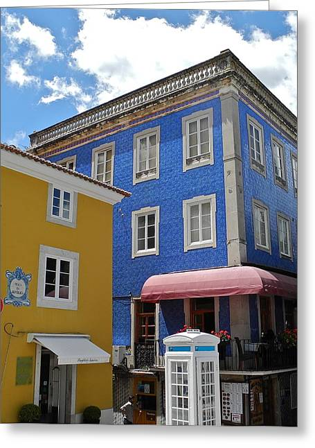 Greeting Card featuring the photograph Sintra Portugal Buildings by Kirsten Giving
