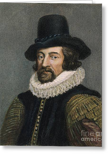 Sir Francis Bacon (1561-1626) Greeting Card by Granger