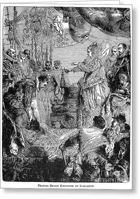 Sir Francis Drake (1540-1596) Greeting Card by Granger